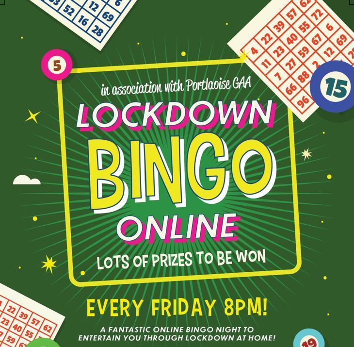Bingo 8pm Portlaoise